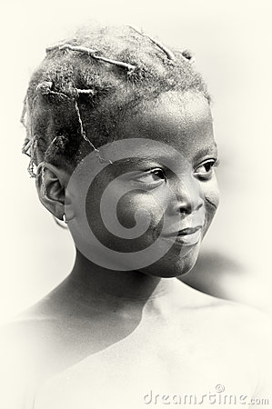 Smily girl from Ghana Editorial Photo
