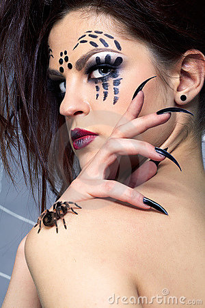 Smithi de Brachypelma d Araignée-fille et d araignée