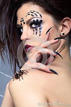 Smithi di Brachypelma del ragno e della Ragno-ragazza