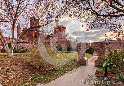 Smithsonian Castle and Moongate