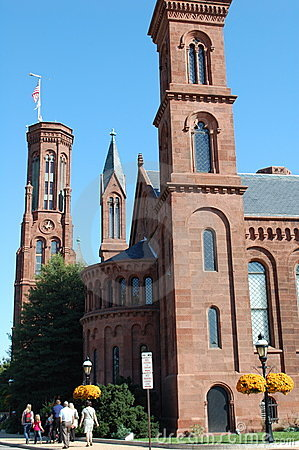 Smithsonian Institution Castle Editorial Stock Image