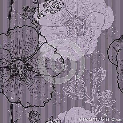 Sömlös blom- bakgrund