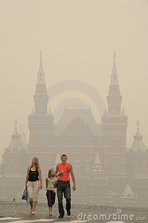 Free Smog In Moscow -2010 Royalty Free Stock Photos - 15494968