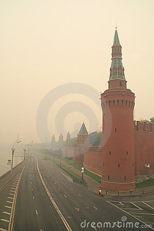 Smog in Moscow -2010 Editorial Image