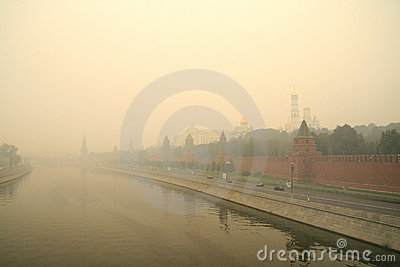 Smog in Moscow -2010 Editorial Photo