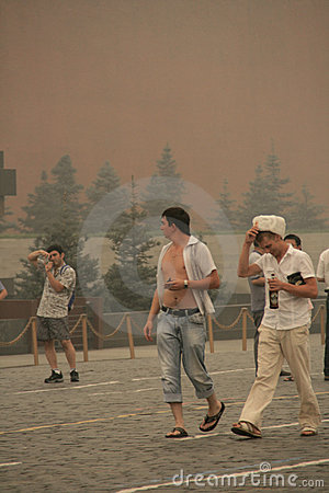 Smog in Moscow -2010 Editorial Photography