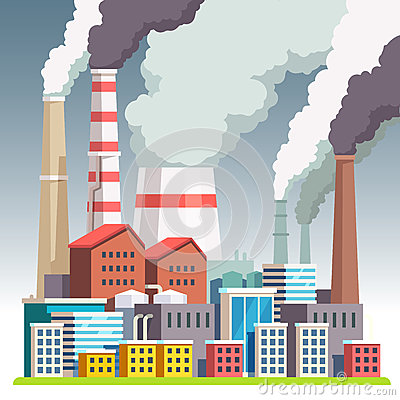 Free Smog Polluted Urban Landscape Stock Photo - 82200950