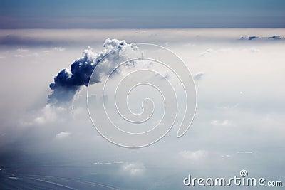 Smog in sky