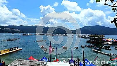 Smok łodzi festiwal w Hong Kong zbiory