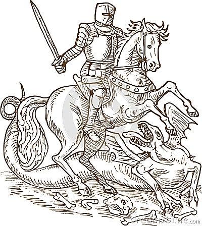 Smoka George rycerza święty