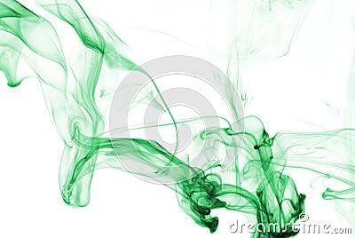 Smoke Abstract in Aqua