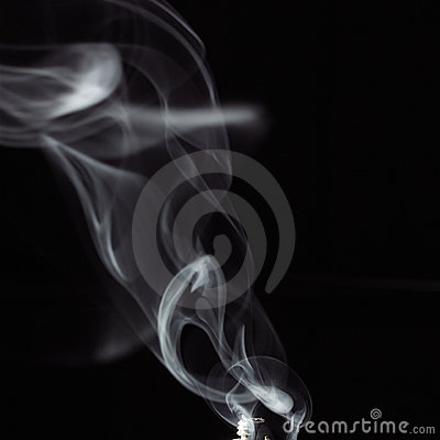 Smoke against black