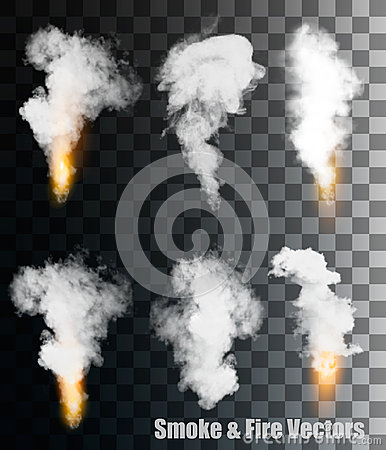 Free Smoke And Fire Vectors On Transparent Background. Royalty Free Stock Photos - 59796708