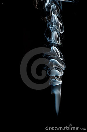 Smoke from black background