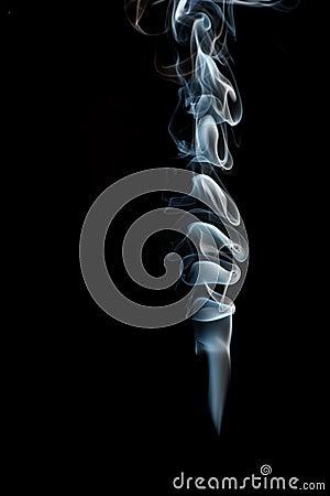 Smoke from black background
