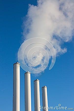 Free Smoke Chimneys Emissions Royalty Free Stock Photo - 49806645
