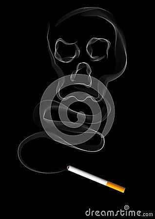 The smoke of cigarette