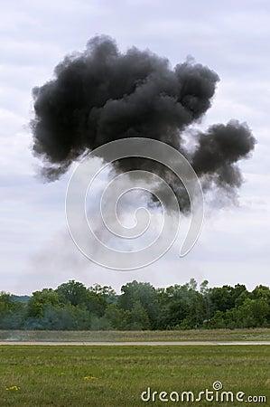 Smoke Cloud over Runway