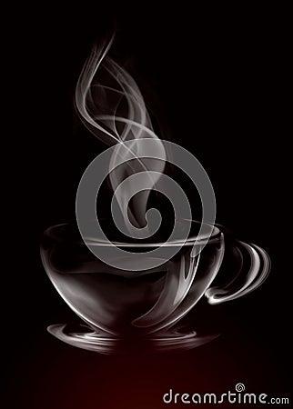Smoke Cup of coffee