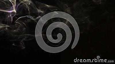 Smoke Dark Background Hd Footage Nobody Stock Video - Video