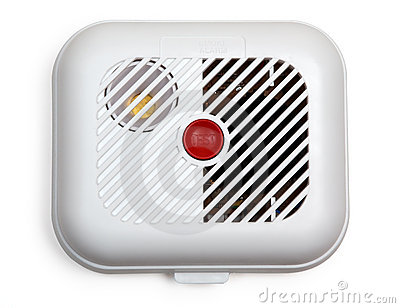 Smoke detector (with clipping path)