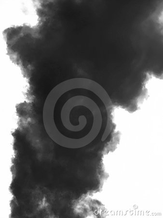 Smoke emission in atmosphere