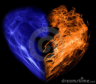Smoke and fire heart