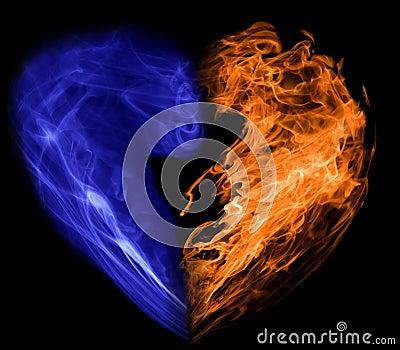 Smoke and fire heart