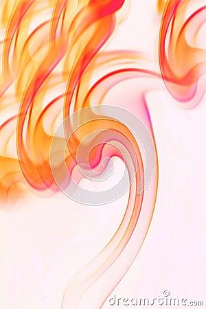 Smoke flames