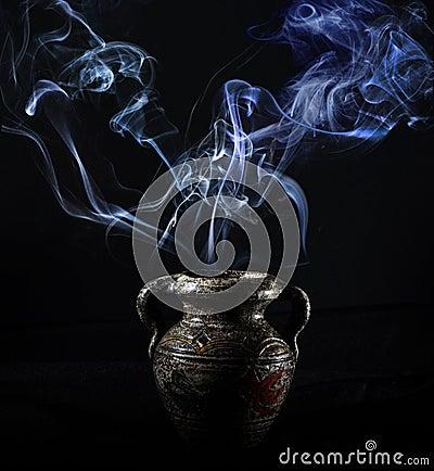 Free Smoke In The Dark Stock Photos - 116594513