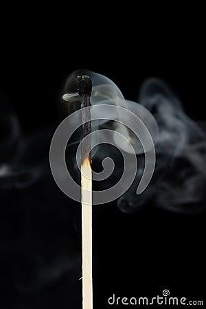 Smoke from a match
