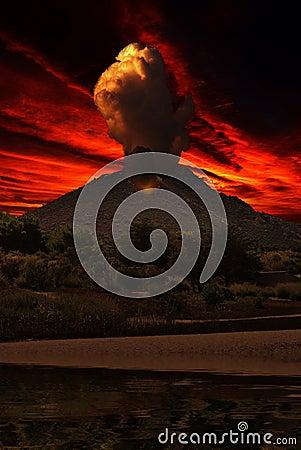 Free Smoke On Volcano Stock Photo - 95318540