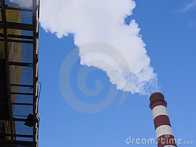 Smoke from the pipe