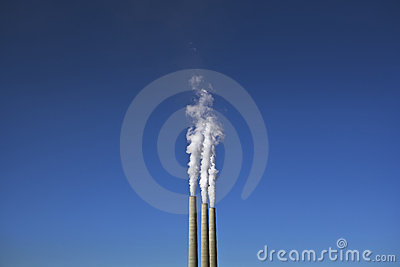 Smoke Stacks & Power Plant