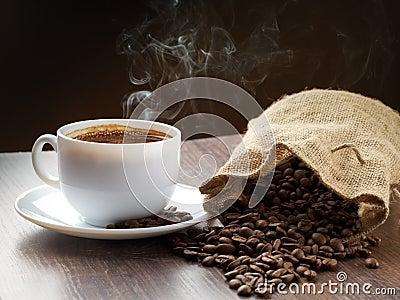 Smoke taking away from coffee