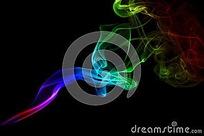 Smoke trail rainbow