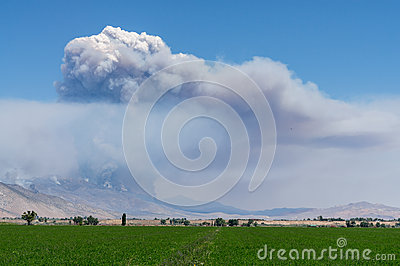 Smoke from a wildfire in Western Nevada