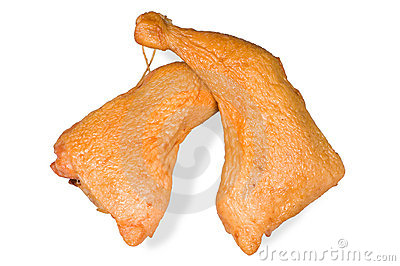 Smoked chicken leg