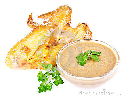 Smoked chicken wings with mustard
