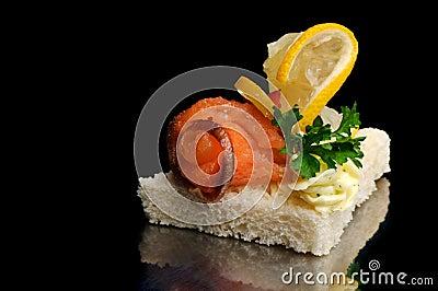 Smoked fish canape