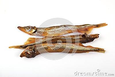 Smoked fish of golden