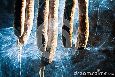 Smoked homemade sausage