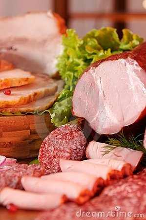Free Smoked Meat And Sausage Royalty Free Stock Images - 4430839