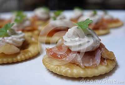 Smoked Salmon Canapes.
