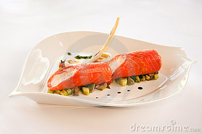 Smoked salmon food