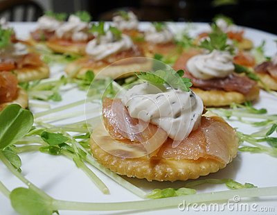 Smoked Salmon Horderves.