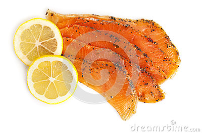 Smoked Salmon with Lemon