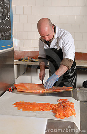 Smoked salmon preparation