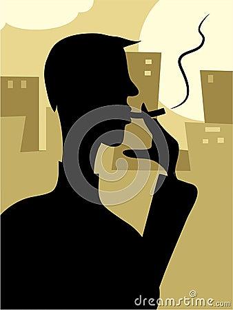 Smoker Silouette