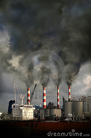 Free Smokestacks Blowing Pollution Stock Images - 8621284